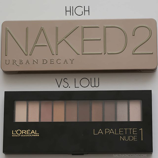 urban decay naked 2 palette vs. l'oreal paris la palette, if you want to save some money, la palette is a good replacement ;)