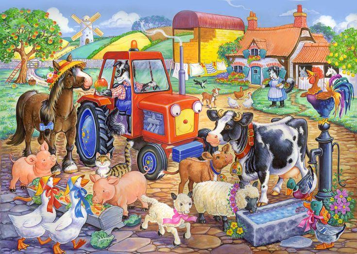 Praatplaat kleuters, boerderij / Farm Friends