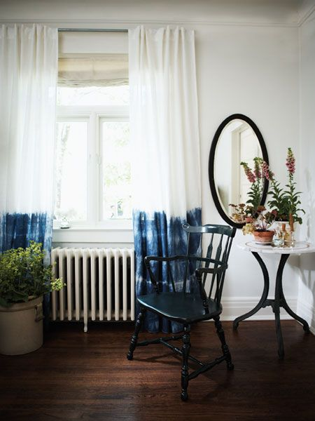 Using white drapes from IKEA, a bucket, rubber bands and some blue dye, this DIY is super easy and gives such great results. A perfect spring pick-me-up! From Michael Penny.