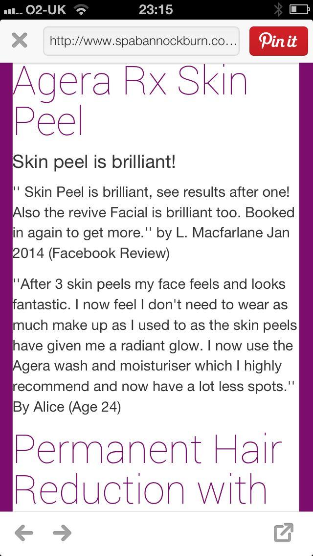 Skin peels testimonials www.spabannockburn.co.uk