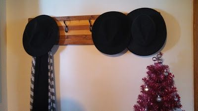 Done! IndianaJane'sJournal: My Anthropologie knock-off hat rack
