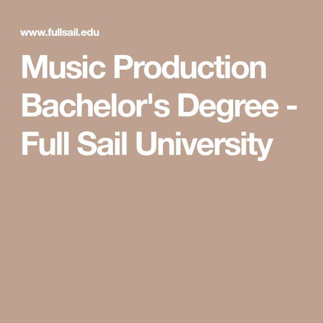 Music Production Bachelor's Degree - Full Sail University