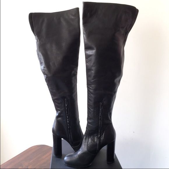 17 best ideas about thigh high leather boots on
