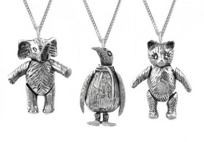Necklace - WIGGLE TEDDY, ELEPHANT OR PENGUIN - Sterling Silve