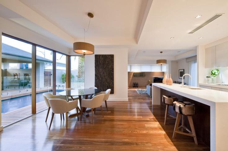 dark colour behind kitchen bench. The Grandview | Scott Salisbury Homes