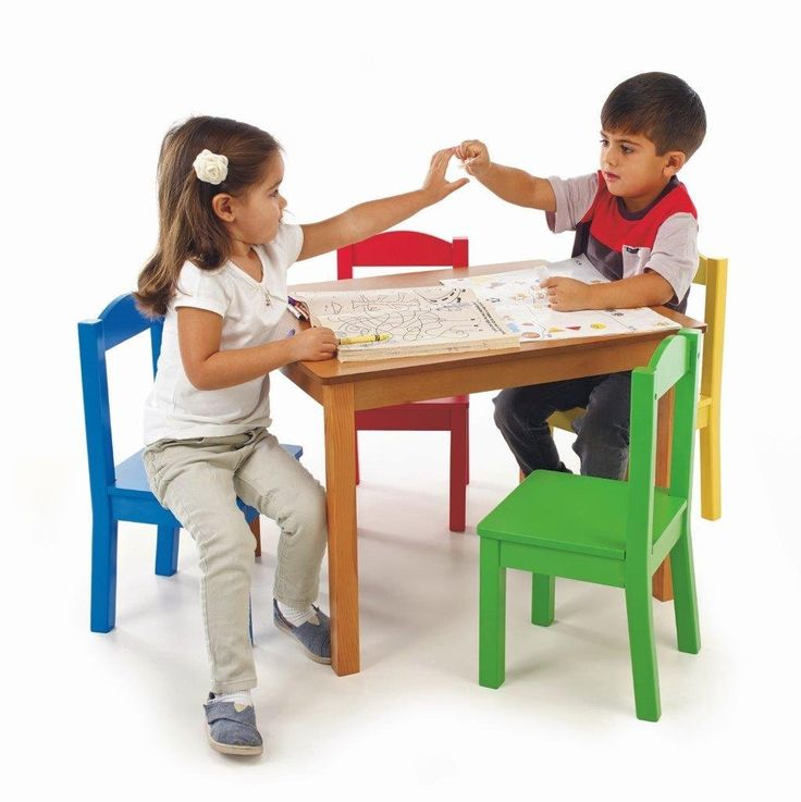 Check Out This Tot Tutors Kidsu0027 Table And 4 Chair Set, Primary Wood