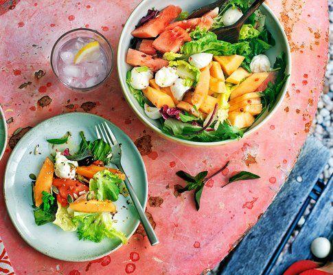 Caprese-Salat mit Melonen