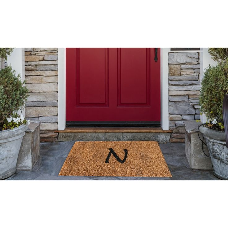 A1HC First impression Plain Monogrammed Doormat
