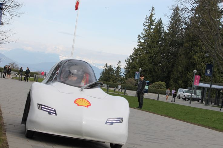 Resembling a smart car, the 86-kg Odysseus is a single-passenger, four-wheeled vehicle that achieves a fuel efficiency of 577 miles per gallon (0.4 litres/100 km).  UBC will compete against 125 teams from North and South America including California Polytechnic State University, Purdue University and the University of California at Berkeley at the Shell Eco-marathon on April 28th 2014