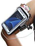 Galaxy S7 Armband, iMangoo Universal Cell Phone Pouch Samsung Galaxy S7 Running Armband Outdoor Sports Armband Gym Wrist Bag Touchscreen Sleeve Case Cover for Galaxy S7 S5 S4 S3 Smartphone Black
