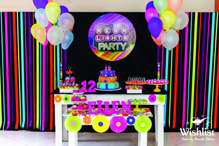 Neon Colors Birthday Party Ideas | Photo 1 of 31 | Catch My Party