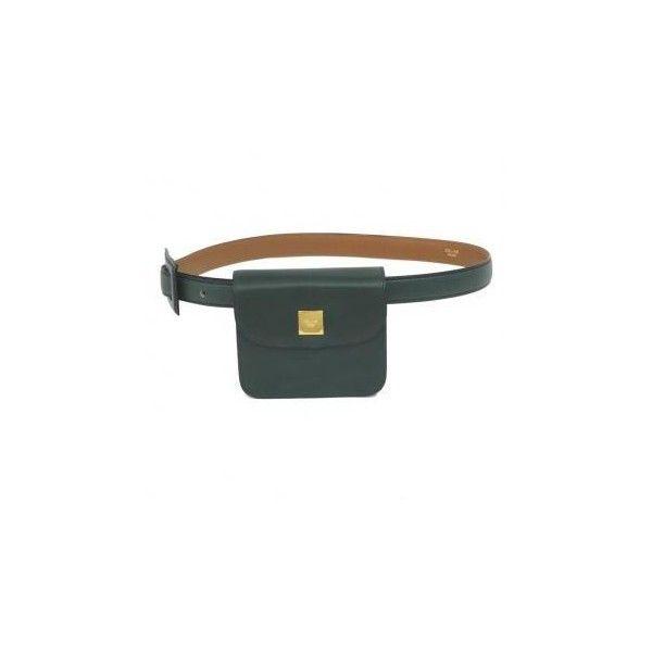 Vintage Celine Forest Green Leather Mini Waist Bag liked ...