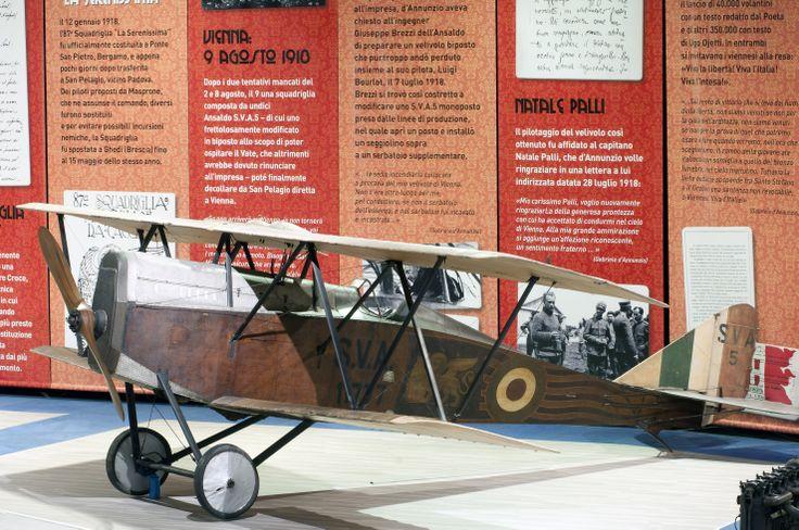 Velivolo Ansaldo S.V.A. 5 che partecipò al volo su Vienna (9 agosto 1918) ai comandi di Gino Allegri