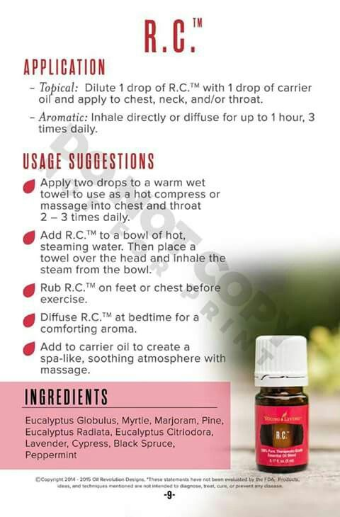 With the Pollen flying in the air at full force..it has us #Sneezing... #coughing...#noserunning   RC essential oil comes in the Starter kit...or can be bought separately. The FDA says that It doesn't cure anything...but it definitely supports the respiratory system.... And helps us get through #Allergy Season  https://www.youngliving.com/en_US/products/rc-essential-oil?sponsorid=1231708&enrollerid=1231708