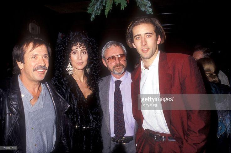 1987: Sonny Bono & Cher & Norman Jewison & Nicolas Cage