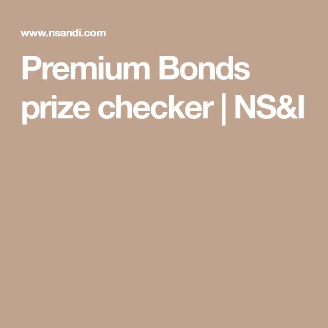 Premium Bonds prize checker | NS&I