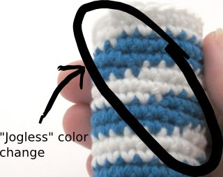 Amigurumi How To Change Color : Crocheted Jogless Stripes - aka Eliminating Jagged Seams ...