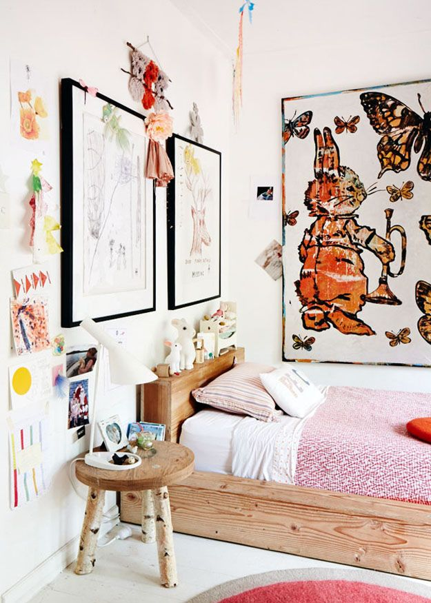 Minimal Bohemian Kidu0027s Bedrooms via Sycamore Street