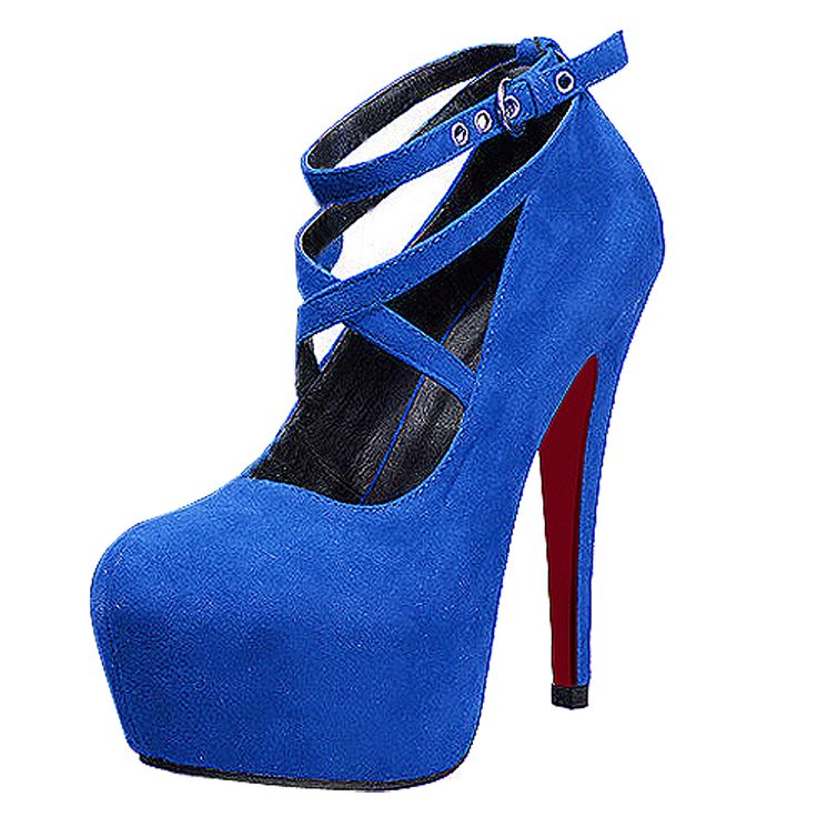 >> Click to Buy << New High-heeled Shoes Woman Pumps Wedding Shoes Platform Fashion Women Shoes Red Bottom High Heels 11cm Suede #Affiliate