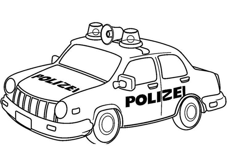 ausmalbilder polizeiwagen zum ausdrucken kidscrafts