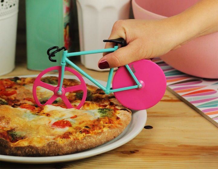 Clever Pizza Cutter Doubles as a Tiny Fixed-Gear Bicycle