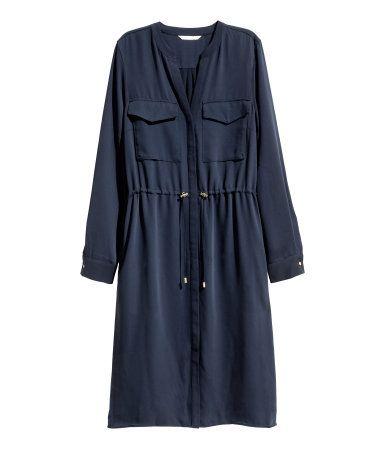 V-neck dress   Dark blue   Ladies   H&M NZ  Robyn Malcolm options