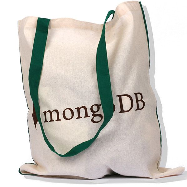 Eco-friendly Organic Cotton Shopping Bag: Perfect conference bag! #mongoDB #bags Find us on facebook at https://www.facebook.com/JNLondon