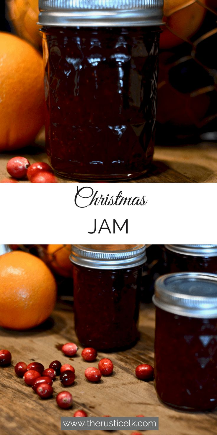 Looking for a festive, homemade jam to give this Christmas? This delicious Christmas jam recipe goes together easily and is perfect for gift giving with a delicious, festive blend of Cranberries, oranges, strawberries, and spices.