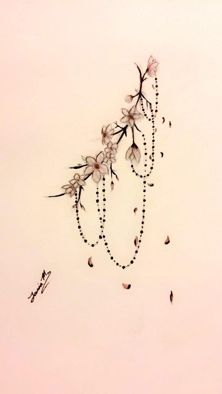 Sideboob Tattoo Design by Tania M. #Cherry Blossom #Sideboob #Sakura #Tattoo – #blossom