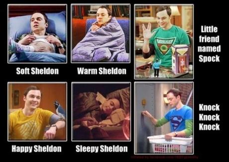 Sheldon's faces !