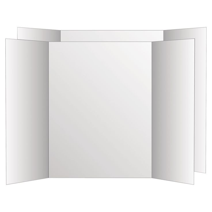 Eco Brites Two Cool Tri-Fold Poster Board 36 x 48 / 6/Carton