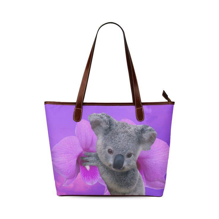 Koala Shoulder Tote Bag. FREE Shipping. #artsadd #bags #koala