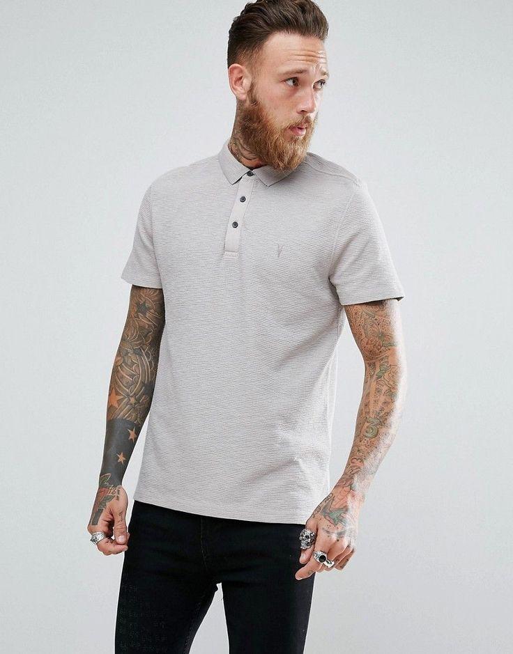 AllSaints Polo Shirt - Gray