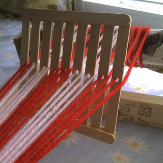 This instructable has a much better method to make one with popsicle sticks and glue.  Will give this a try.