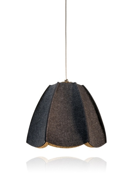 Shine Labs Dolores Pendant Lamp   100% Wool Shade