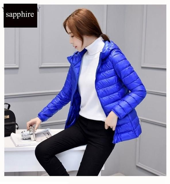 2018 women autumn coats jackets with hoody long sleeve winter slim thin light outwear coat for female fashion plus size 4xl sapp 2