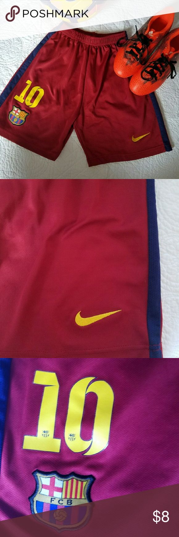 Soccer shorts Maroon boys Nike  shorts FCB Bottoms Shorts