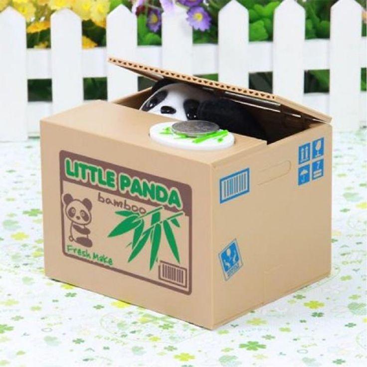 Robotic Kids Present Stealing Panda Toy Coin Bank