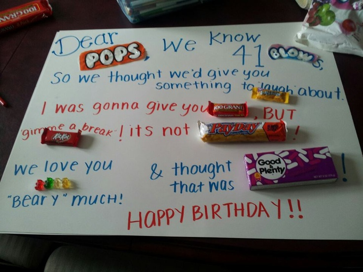 Birthday Card for my dad with candy (: | Father's Day ...