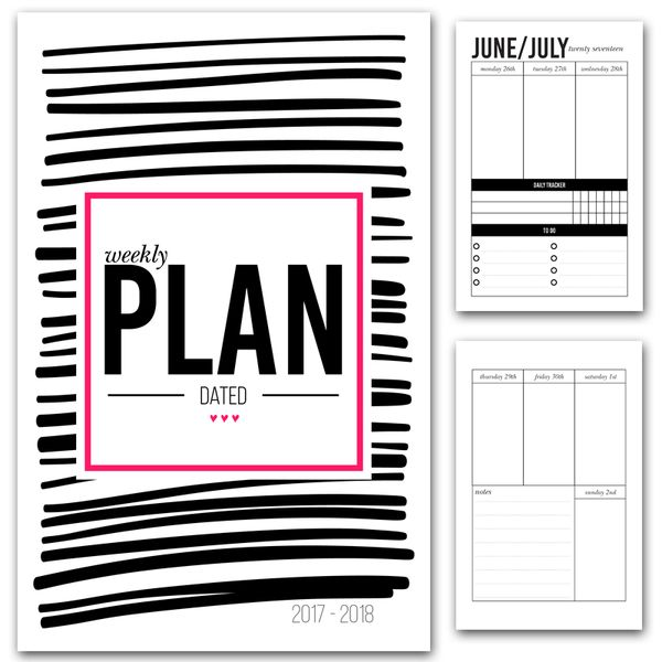 Dated Weekly Planner Printable