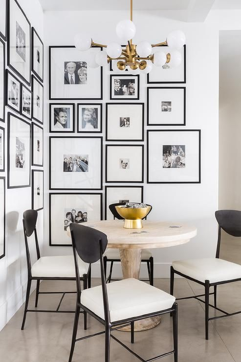 Black and White Dining Nook by Alyssa Rosenheck - Nicole Davis Interiors