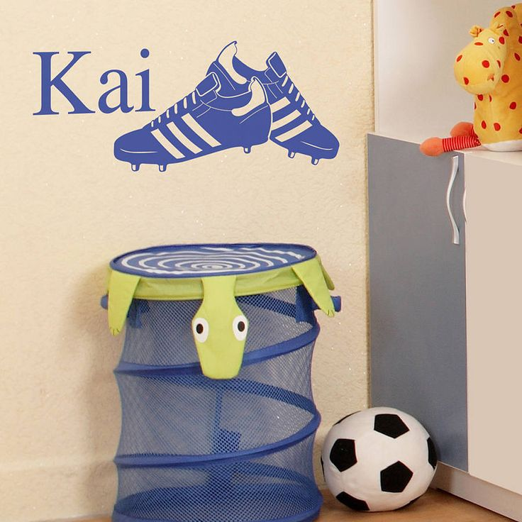 Personalised Football Boots Wall Sticker. £22.00