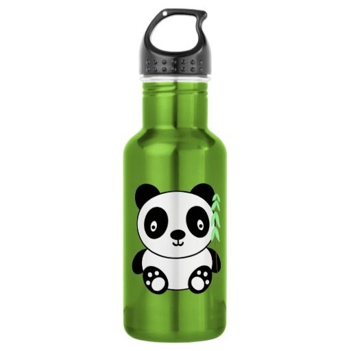 Panda with Bamboo 18oz Water Bottle