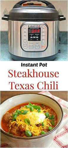 Instant Pot Steakhouse Texas Chili. Filling, hearty, and so easy with the instant pot | What's Cookin, Chicago?
