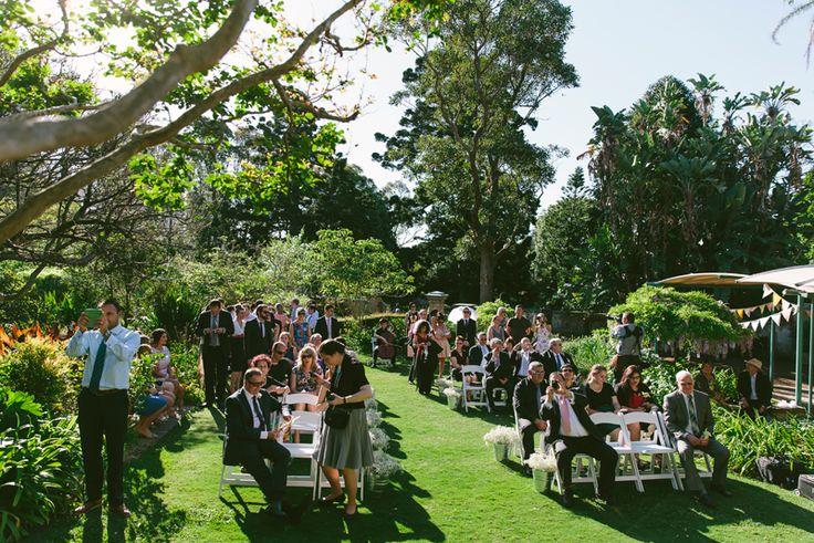 Sydney Royal Botanical Gardens wedding ceremony. Image: Cavanagh Photography…
