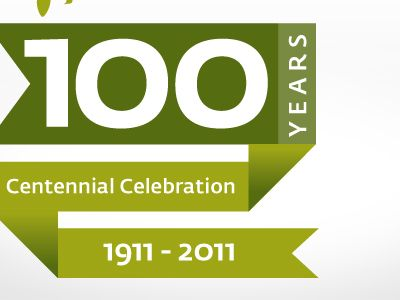 Dribbble - 100th Anniversary logo no.2 by Leighton Hubbell
