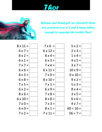 25 Best Ideas About Times Tables Test On Pinterest