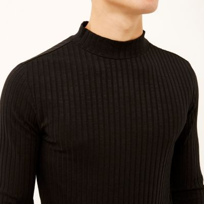 I'm shopping Black chunky ribbed turtle neck in the River Island iPhone app.