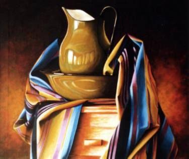"Saatchi Art Artist Dan Civa; Painting, ""Old wash stand"" #art"