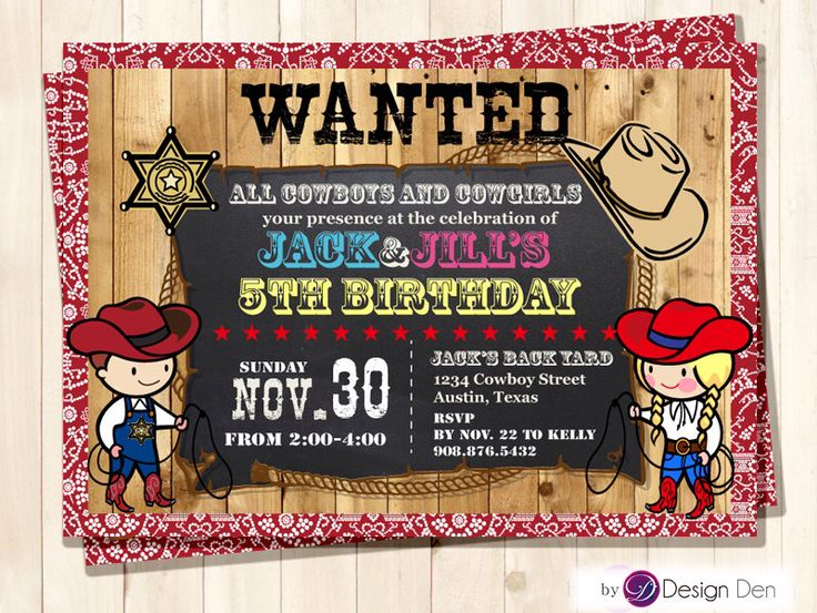 Cow Boy & Cow Girl JOINT Birthday party Invitations /Combined Birthday Party / Chalkboard/Printable Digital. #K1022 by ByDesignDen on Etsy https://www.etsy.com/listing/209388296/cow-boy-cow-girl-joint-birthday-party